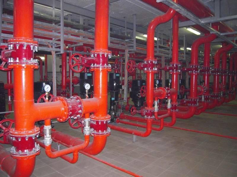 Испытание автоматической системы пожаротушения
